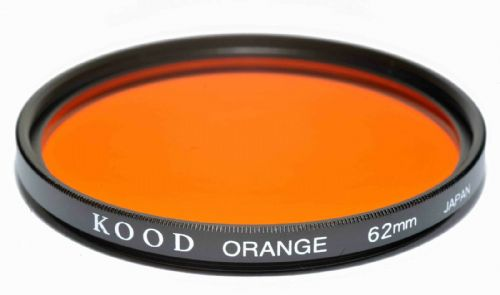 Kood High Quality Optical Glass Orange Filter Made in Japan 62mm